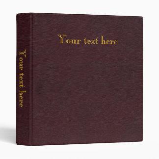 """Libro antiguo viejo, límite retro de la imitación carpeta 1"""""""