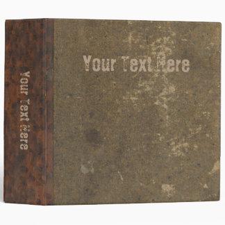 """Libro apenado viejo - falsa cubierta del cuero de carpeta 2"""""""