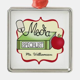 Libro Apple del especialista de los medios y ratón Adornos De Navidad