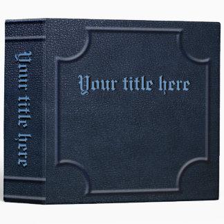 Libro azul grabado en relieve de la imitación de c