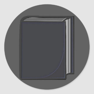 Libro azul - GreyBkg Pegatina Redonda