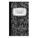 libro blanco y negro de la composición tarjeta personal