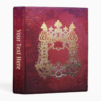 Libro carmesí manchado tinta de Falln Mini Carpeta