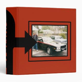 Libro clásico del recuerdo de la foto del coche