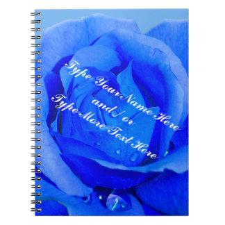Libro color de rosa azul personalizado cuaderno co