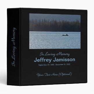 """Libro conmemorativo, pescadores en silueta carpeta 1 1/2"""""""