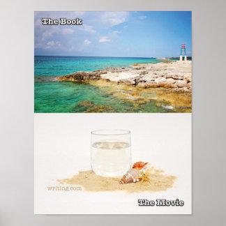 Libro contra la película (playa) póster