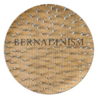 Libro de Bernadinism de tornillos Plato De Cena