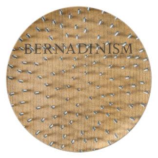 Libro de Bernadinism de tornillos Plato De Comida