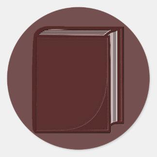 Libro de Borgoña - RoseBkg Pegatina Redonda