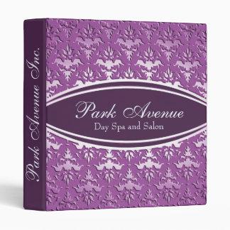 """Libro de cita de color de malva púrpura elegante carpeta 1"""""""