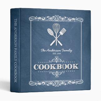 """Libro de cocina azul de la familia de la pizarra carpeta 1"""""""