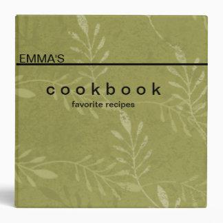"""Libro de cocina botánico personalizado de la recet carpeta 2"""""""