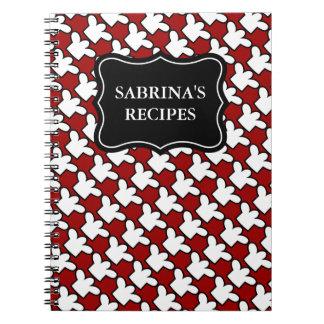 Libro de cocina conocido personalizado de la recet libros de apuntes