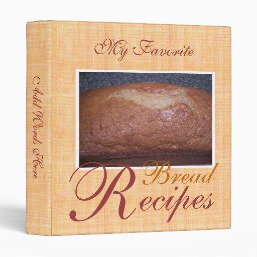 Libro de cocina de la receta del pan