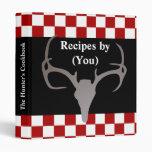 Libro de cocina de la receta del tablero de damas