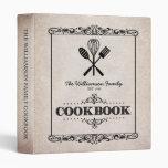 """Libro de cocina de papel envejecido beige de la carpeta 1"""""""