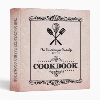 """Libro de cocina de papel envejecido moho de la carpeta 1"""""""