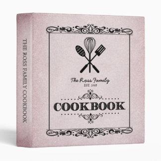 """Libro de cocina de papel envejecido rosa de la carpeta 1"""""""