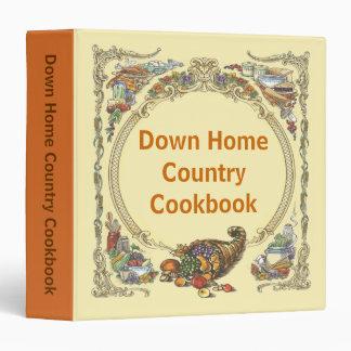 """Libro de cocina del país de orígen abajo carpeta 1 1/2"""""""