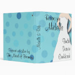 Libro de cocina nupcial de la ducha - azules