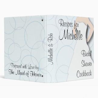 Libro de cocina nupcial de la ducha - círculos