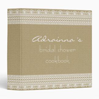 Libro de cocina nupcial de la ducha de la arpiller