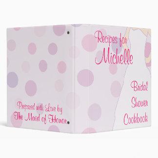 Libro de cocina nupcial de la ducha - texto rosado