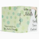 Libro de cocina nupcial de la ducha - verdes