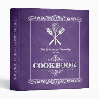 """Libro de cocina púrpura de la familia de la carpeta 1"""""""