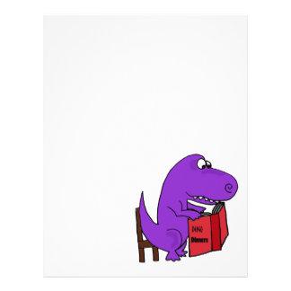Libro de cocina púrpura divertido de la lectura plantillas de membrete