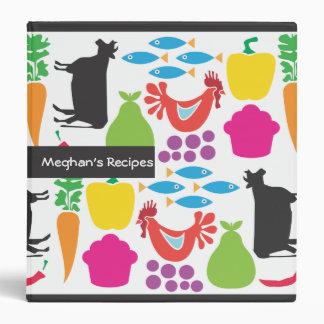 Libro de cocina retro - carpeta de la receta