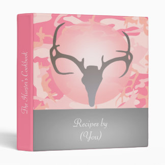Libro de cocina rosado personalizado del cráneo de