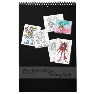 Libro de colorear calendario de pared