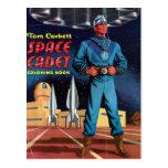 Libro de colorear del cadete del espacio postales