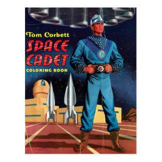 Libro de colorear del cadete del espacio postal