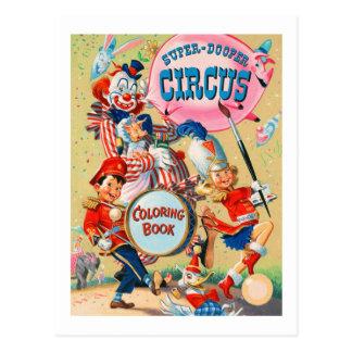 Libro de colorear estupendo de Duper del vintage Postal