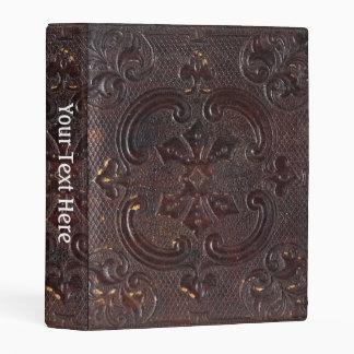 Libro de cuero antiguo de Falln Mini Carpeta