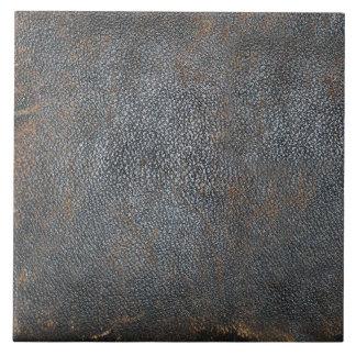 Libro de cuero apenado antigüedad azulejos cerámicos