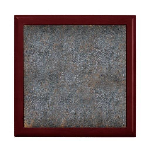 Libro de cuero apenado antigüedad joyero cuadrado grande