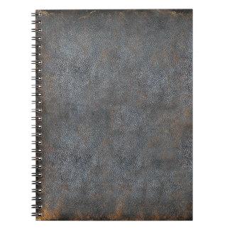 Libro de cuero apenado antigüedad libros de apuntes con espiral