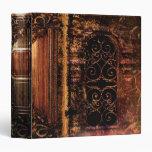 """Libro de cuero medieval del tomo antiguo rústico carpeta 1 1/2"""""""