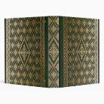 Libro de cuero verde viejo gótico