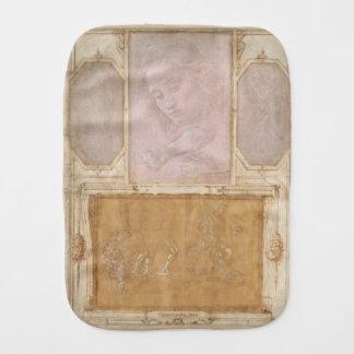 Libro de Disegni by Botticelli, Lippi, Vasari Baby Burp Cloth