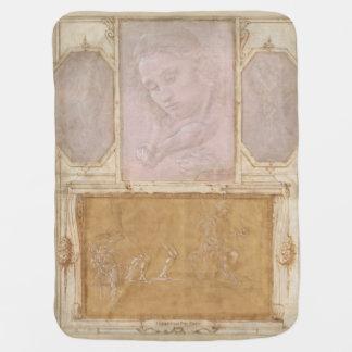 Libro de Disegni by Botticelli, Lippi, Vasari Stroller Blanket