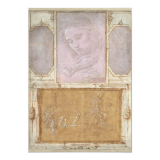 "Libro de Disegni por Botticelli, Lippi, Vasari Invitación 5"" X 7"""