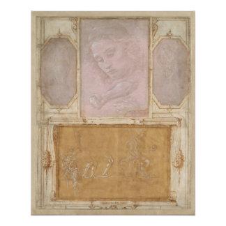 Libro de Disegni por Botticelli, Lippi, Vasari Perfect Poster