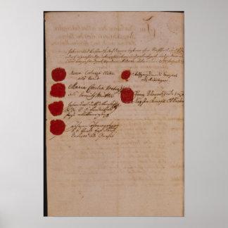 Libro de familia de Wolfgang, de Mozart y de Weber Posters