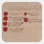 Libro de familia de Wolfgang, de Mozart y de Weber Calcomania Cuadrada Personalizada