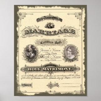 Libro de familia del vintage 1800 s poster